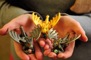 Flying Guardian Dragons! by Trishamonstah