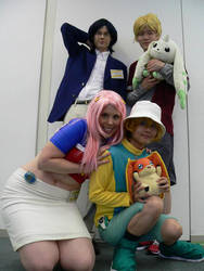 Cosplay Jou, Wallace, Mimi, TK by mippa