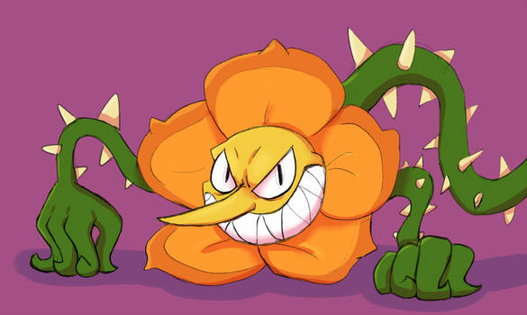 Cuphead - Cagney Carnation by 9CentsChange
