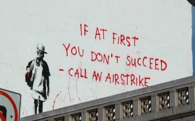 Airstrike Banksy Graffiti by tacomango