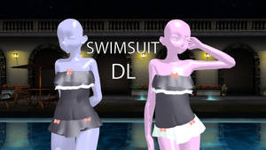 Ruffle Swimsuit flat and not so flat PMX Ready by cat-tom-boy