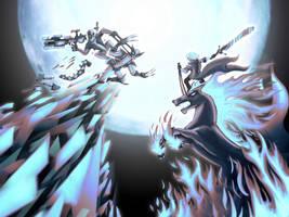Dante Vs Deadpool, Riders of Hell by Banditcat123