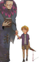 fate/zero caster and ryunosuke by vanillatte54