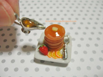 Dollhouse Miniature Orange Pancakes by ilovelittlethings