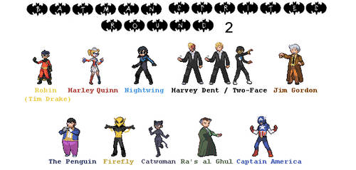 Batman Sprites - Round 2 by Lizuka
