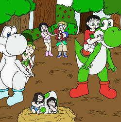 Yoshi Nest in the Forest Maze by Lizuka