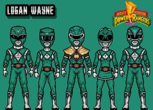 Mighty Morphin 'Green' Rangers by LoganWaynee