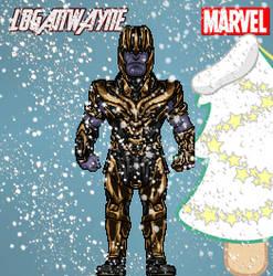 Christmas Thanos (2018 edition) by LoganWaynee