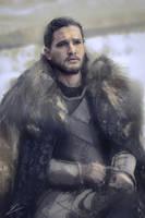 Jon Snow Portrait by Carl-Ellistrator