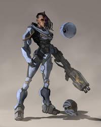Sci-Fi Marine / Infinity Blade/Codehunters style by Carl-Ellistrator