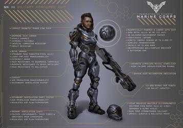 Sci-Fi Marine / Halo: Spartan Ops Design Diagram by Carl-Ellistrator