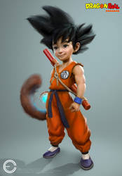 Kid Goku (new) by Carl-Ellistrator