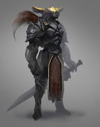 Swordsman from overseas by Carl-Ellistrator