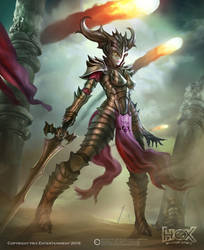 Hex - Underworld Female Crusader by Carl-Ellistrator
