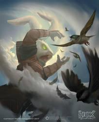 Hex - 'Enlarge' card Illustration by Carl-Ellistrator