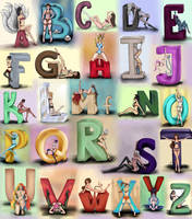 League of Legends Sexy Alphabet Complete by Anspire