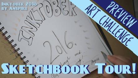 Inktober 2016 Sketchbook Flip-through! (Download) by Anspire