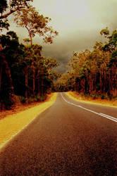 stormy road by dopeonplastique