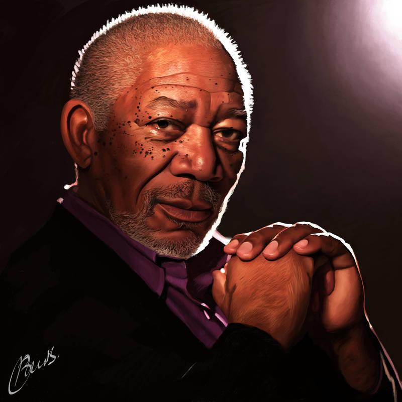 Morgan Freeman by brentonmb