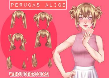 Perucas Alice [UL] BY LicyAD (LINK NA DESCRICAO) by LicyAD