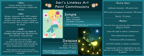 Sari's Lineless Art Point Commissions [CLOSED] by SariSpy56