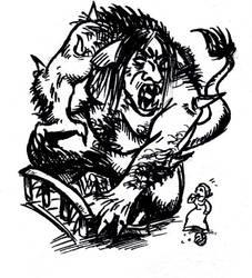 Sixwillows Bridge - the Troll by Sherrypie