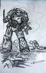 Some Heresy-era Death Guard doodles, tactical by Sherrypie