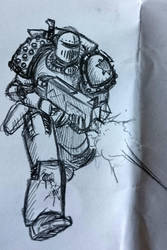 Some Heresy-era Death Guard doodles, another tac by Sherrypie