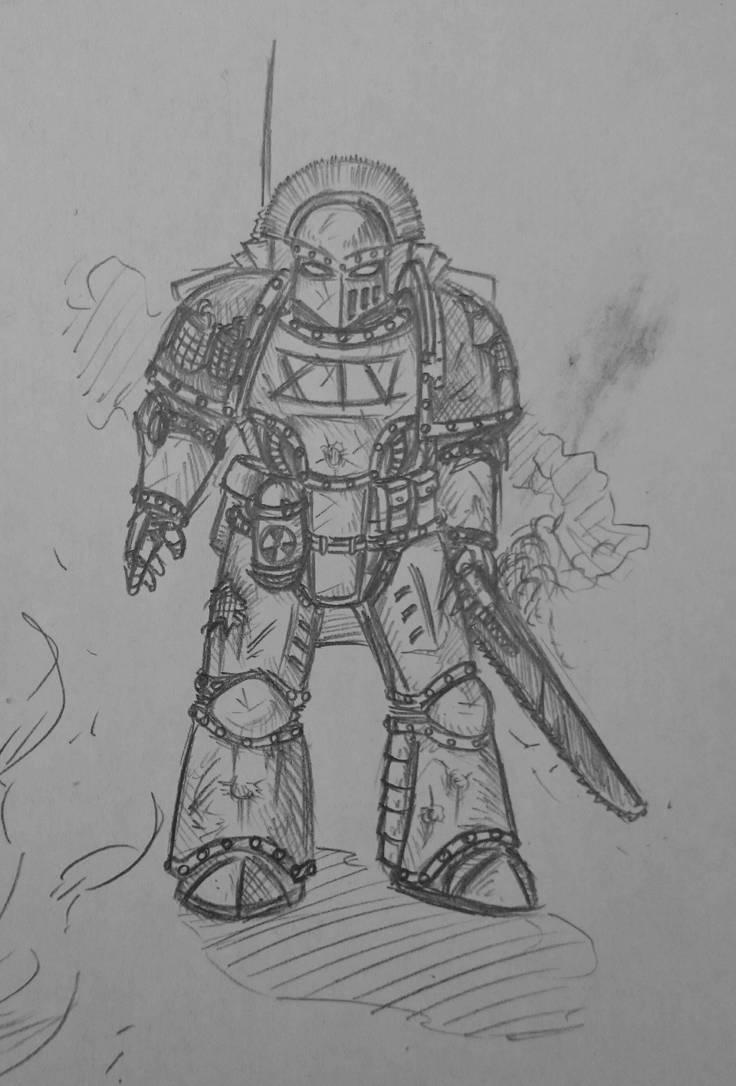 Death Guard destroyer sergeant by Sherrypie