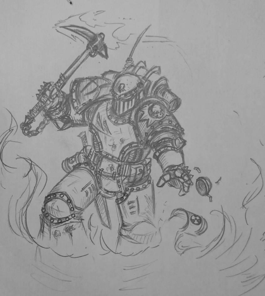 Death Guard destroyer 1 by Sherrypie