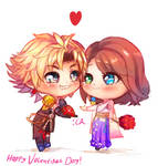 [Valentines] Tidus and Yuna - Final Fantasy X by AnarchisedLUTE