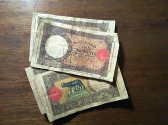 Reproduction 1937 50 Lira Banknotes by MichaelRMaranda