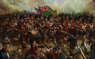 79th Highlanders at Quatre Bras by Mitchellnolte