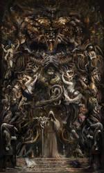 Stargazing in Dozak (Album art for Anhedonic) by Mitchellnolte