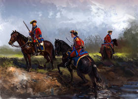 St Louis Cavalry of the American Revolutionary War by Mitchellnolte