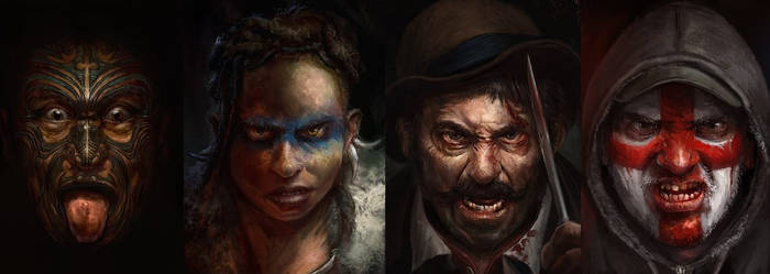 Portraits for Tribal by Mitchellnolte