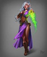 Druidess by riikozor