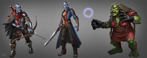 Pathfinder characters by riikozor