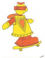 Robot Skateboard by juani-hokshana