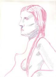Woman in Pink01 by juani-hokshana