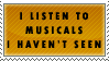 Listening to Musicals Stamp by Spikytastic