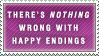 Happy Endings Stamp by Spikytastic