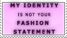 Your Fashion Statement Stamp by Spikytastic