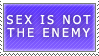 Sex is Not the Enemy Stamp by Spikytastic