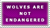 Wolves Not Endangered Stamp by Spikytastic