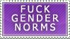 Gender Norms Stamp by Spikytastic