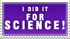 For SCIENCE Stamp by Spikytastic
