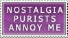 Nostalgia Purists Stamp by Spikytastic