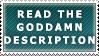 Read the Goddamn Desc. Stamp by Spikytastic