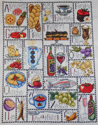Gourmet ABC Counted Cross Stitch Kit by FireWings26